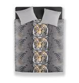 Wake-up! bedding dekbedovertrek tijger grijs