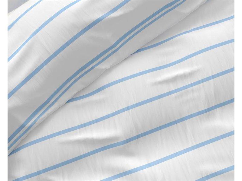Zensation Dekbedovertrek gestreept wit/blauw