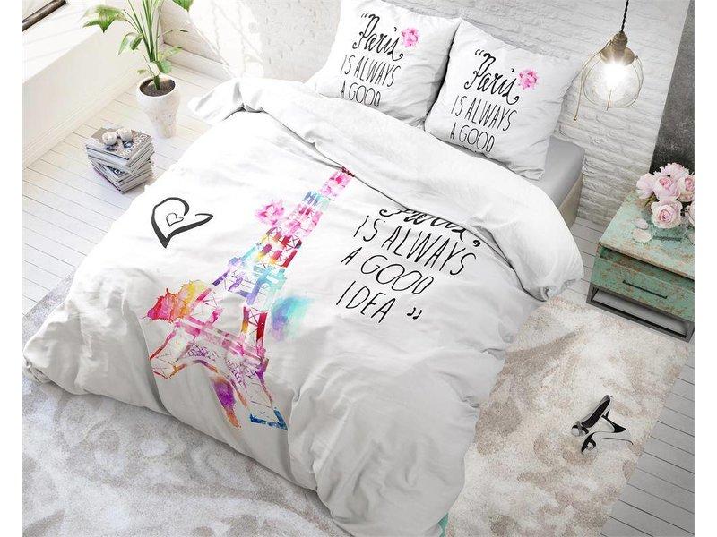 Sleeptime Dekbedovertrek Parijs Splash White