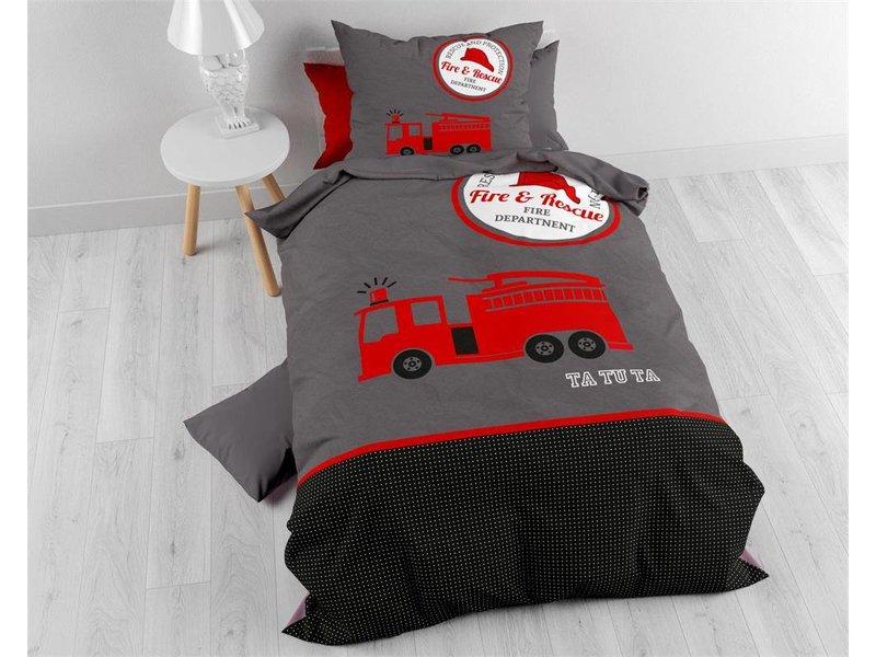 Sleeptime Dekbedovertrek Fireman TaTu Red