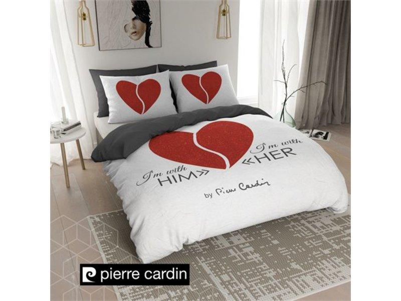 Pierre Cardin Dekbedovertrek Him / Her Red White