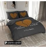 Pierre Cardin Dekbedovertrek Him / Her Antraciet Goud