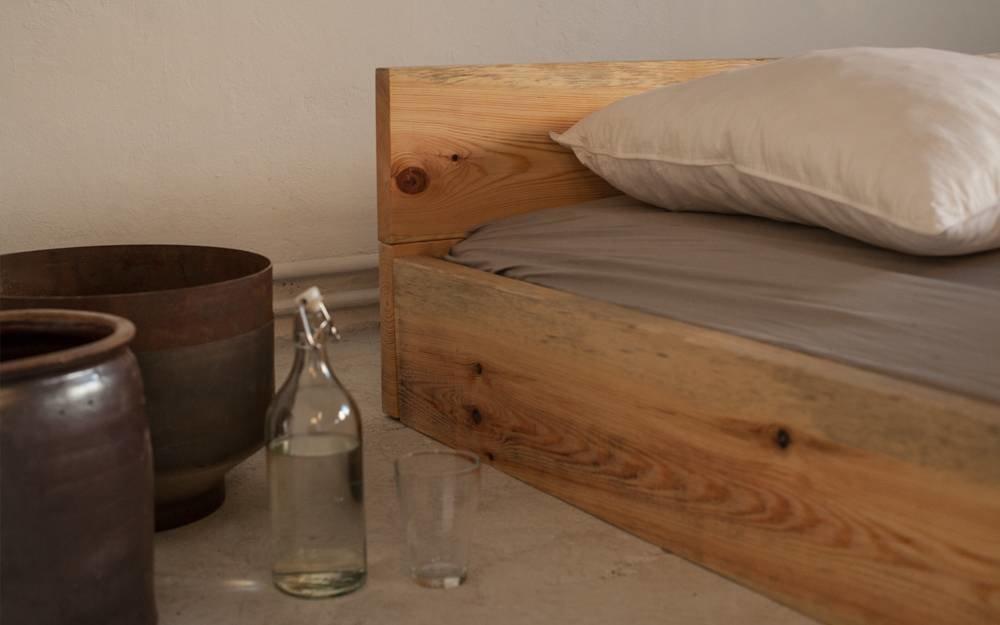 woodboom Bett stehend aus Kiefer