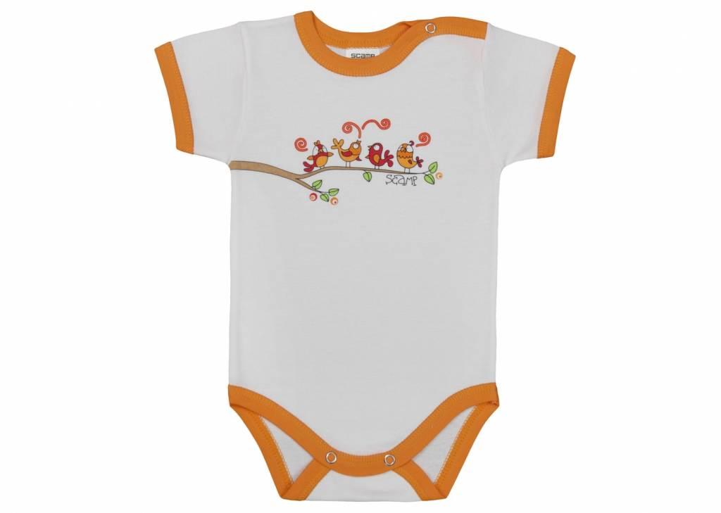 baby body kurzarm weiss orange mit tanzenden v gel. Black Bedroom Furniture Sets. Home Design Ideas