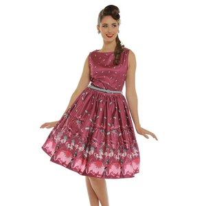Lindy Bop: 'Audrey' Vintage Circus Swing Dress