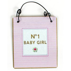 no.1 Babygirl - mini metal sign (7 cm)