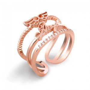 Rose Gold Ring: Angel Wings