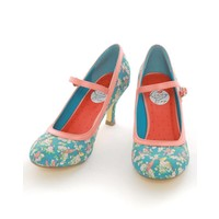 Lindy Bop: Teal Bird 50's Style Mary Jane Shoes