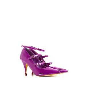 Lindy Bop: 'Betty Shoe' Purple Patent Strappy Shoes