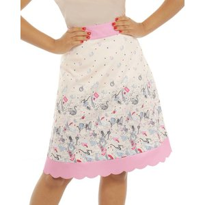 LIndy Bop: 'Natalie' Cream Alice in Wonderland Skirt