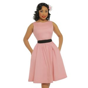 Lindy Bop: 'Audrey' Pale Pink Swing Dress