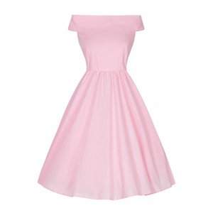Lady Vintage:  Bardot Dress 'Pink Carnation'