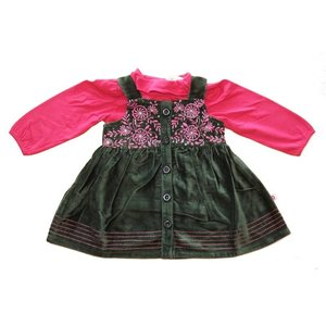 Cutey Couture: Velvet Dress (6-24 mnd)