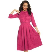 Lindy Bop: 'Marianne' Raspberry Dress and Jacket Twin Set