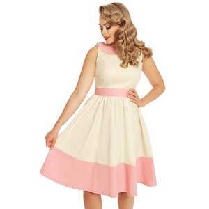 Lindy Bop: 'Beattie' Cream Swing Dress
