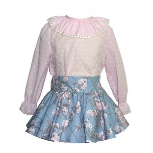 Alber: Spanish Dot Blouse & Flower Skirt, 3-12 jaar