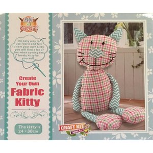 Art&Craft: Create Your Own Fabric Kitty, 6-12 jaar
