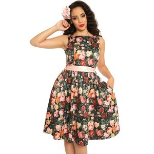 Lindy Bop: 'Audrey' Rose Bush Swing Dress