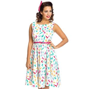 Lindy Bop: 'Annie' Bright Cat Swing Dress