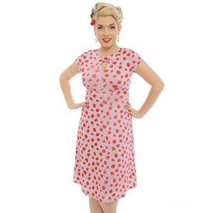 Lindy Bop: 'Juliet' Raspberry Tea Dress