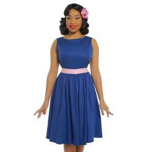 Lindy Bop: 'Audrey' Deep Blue Swing Dress