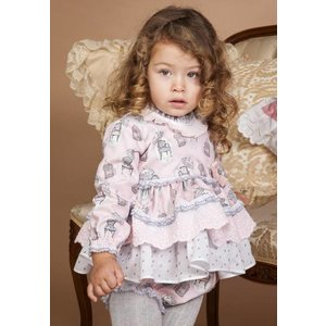 BEA CADILLAC: OPALO BABY DRESS WITH PANTIES (12-36 mnd)