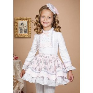 BEA CADILLAC: OPALO GIRL SET WITH BLOUSE AND SKIRT