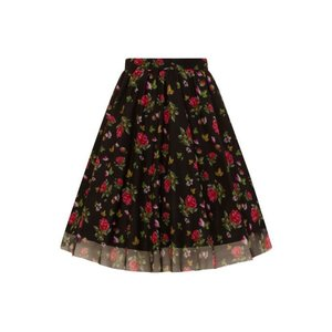 Lady Vintage: Tulerok 'Petites Roses on Black'