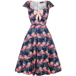 Lady Vintage: Isabelle Dress 'Flamingo'