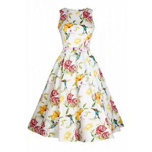 Lady Vintage: Hepburn Dress 'Humming Birds'