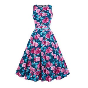 Lady Vintage: Hepburn Dress 'Birds of Paradise'