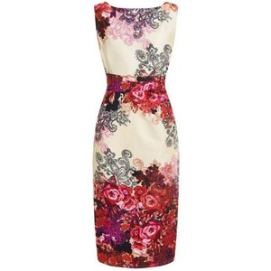 Lady Vintage: Venus Pencil Dress 'Red Roses'