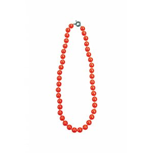Collectif: Red  Bead Necklace