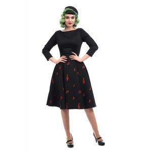 Collectif: Mainline Music Notes Dress 'DELPHINE'