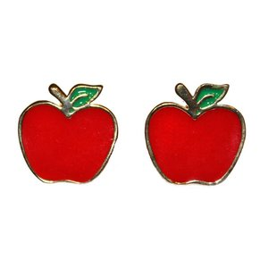 Collectif: Apple Stud Earrings