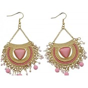 Pink Gold Earrings, 8 cm