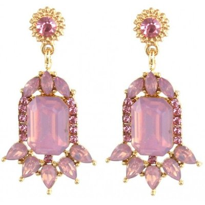 Crystal Earrings Pink