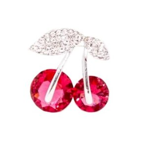 Collectif: Diamant Cherry Broche