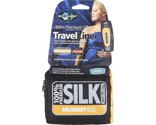 Sea to Summit Silk Liner mummy, pacific blue