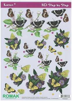 Romak 3D Bogen Romak Schmetterlinge