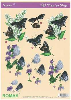 Romak 3D Bogen Romak Karen Schmetterlinge
