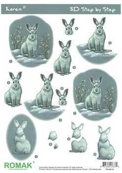 Romak 3D Bogen Romak Hase-Kaninchen