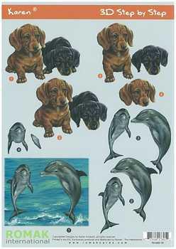 Romak 3D Bogen Romak Hunde Dolphin