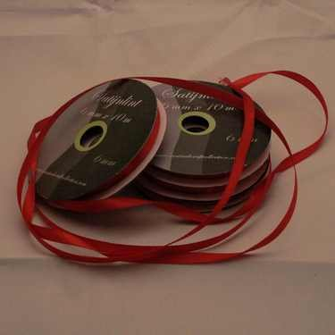 Central Craft Collection 3mm-Satin-Band Red Christmas