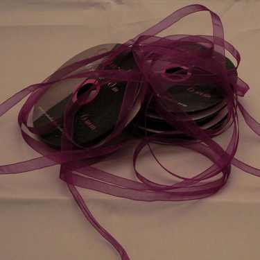 Central Craft Collection Band Organza 3mm Lila