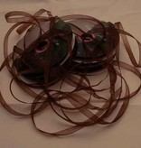Central Craft Collection Band Organza 3mm Brown