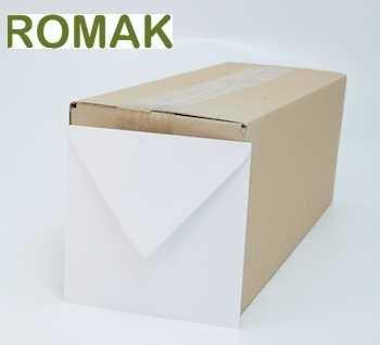Romak Umschläge quadratischen weißen Romak