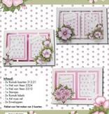 Hobby Idee Card sæt Floral pink Hobby Idea