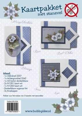 Hobby Idee Card Pakke med udstanset ark Hobby jul Idea