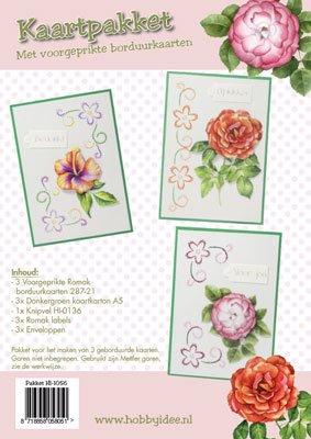 Hobby Idee Broderi kort sæt Floral Hobby Idea